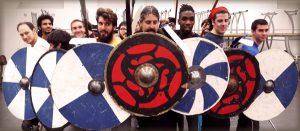 Projet de formation humaine AMHE : stage de combat viking à IN'TECH