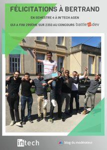 Bertrand Arnaud 1er INTECH à la BATTLEDEV
