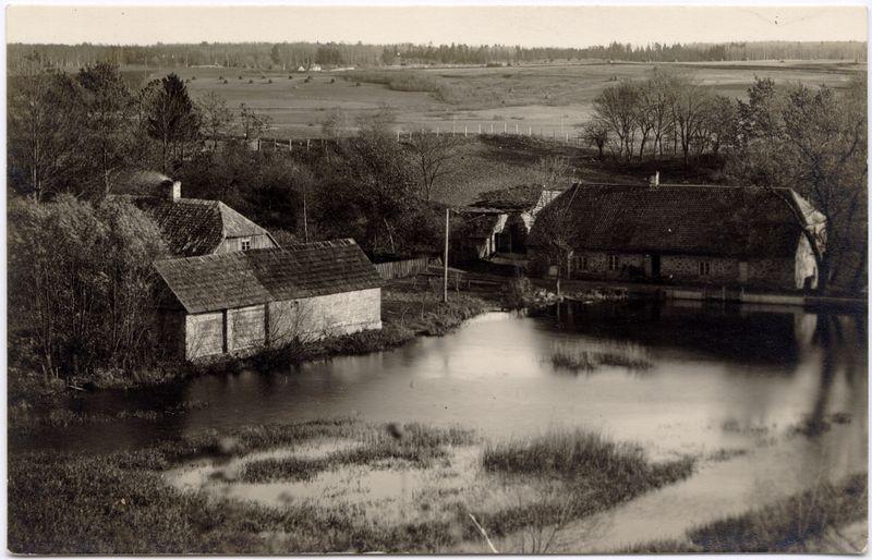 Moulin à eau Koesti en Estonie en 1930 (projet Atlas)