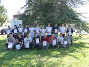 Les étudiants lauréats de la certification Voltaire.