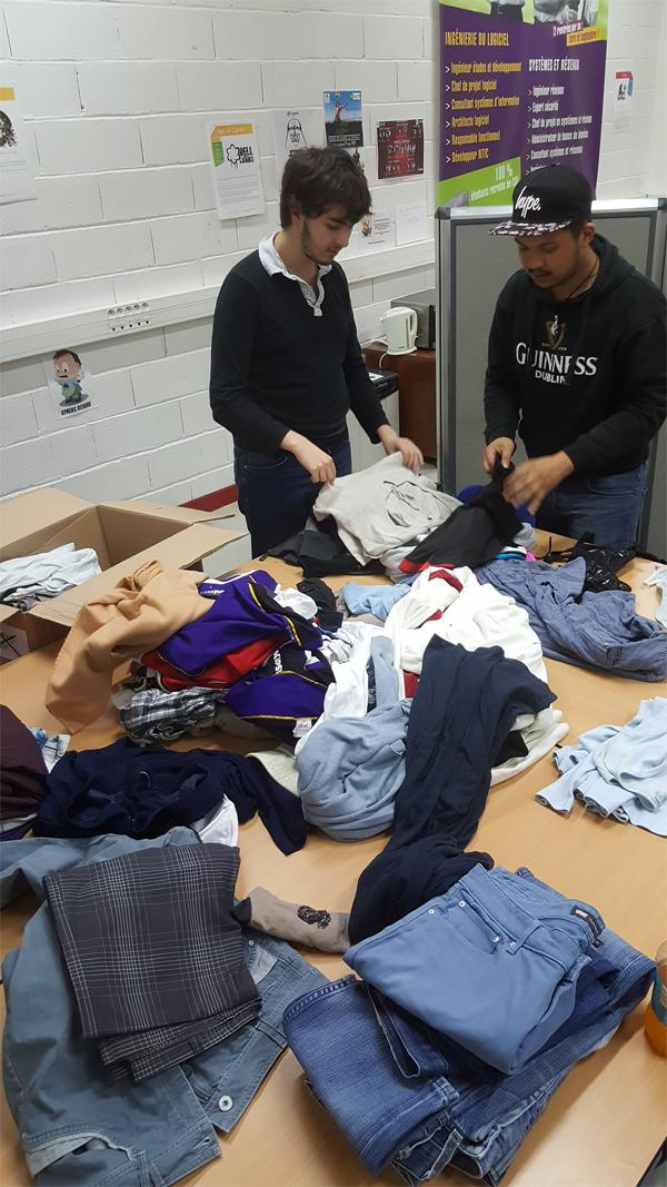 le PFH Social'IT a collecté 500 vêtements pour les Restos du Coeur