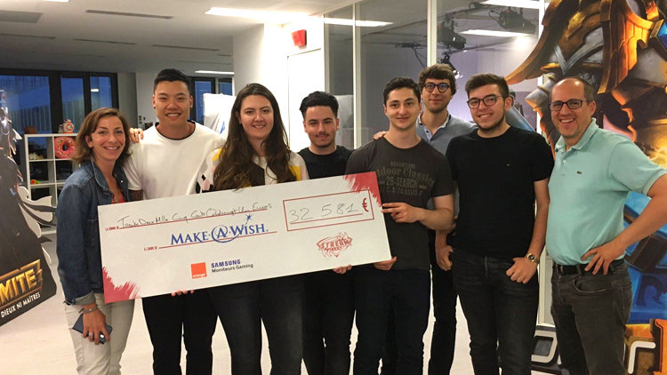 #ShareNStream : la Stream Team et des étudiants d'IN'TECH récoltent 32 581€ pour Make-A-Wish® France