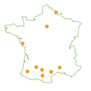 Carte des campus IN'TECH